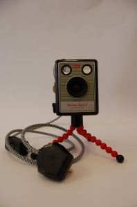 Vintage Recycled Kodak box camera light.